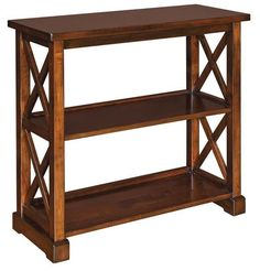 Amish Dexter Bookcase Solid wood strength that will last. Dexter is built for your home in the wood and finish you choose. Amish made in America.