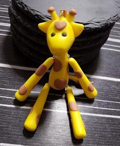 Giraffe Fimo Anhänger schlüssel handy kette Handarbeit  in Uhren & Schmuck, Modeschmuck, Halsketten & Anhänger | eBay!