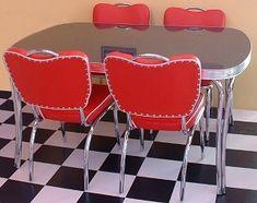 American Diner Kitchen, 50s Diner Kitchen, Retro Diner, Vintage Kitchen, 1950s Diner, Red Kitchen, Vintage Industrial Decor, Vintage Decor, Industrial Style