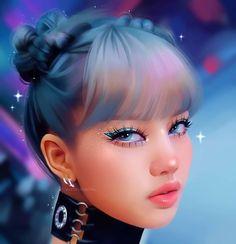 Blackpink in ya area!❤️ drawing of . Digital Art Girl, Digital Portrait, Portrait Art, Lisa Blackpink Wallpaper, Black Pink Kpop, Blackpink Photos, Pictures, Kpop Drawings, Illustrators On Instagram