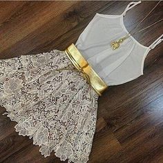 New Arrive Women Vestidos Hot Fashion Women's White Sleeveless Lace Casual O-neck Cute Dress Vestido de renda - Mode für Frauen - Short Mini Dress, Short Dresses, Summer Dresses, Ladies Dresses, Summer Clothes, Trendy Outfits, Cute Outfits, Look Star, Embroidered Lace