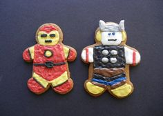 ironman and thor gingerbread cookies by sugarswings, via Flickr