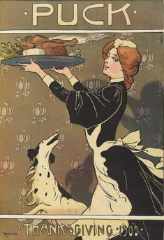 Thanksgiving 1905 - the flowers in the background are very Art Nouveau.