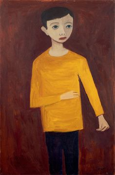 William Scott, [Young Boy], 1947 or 1948, Oil on canvas, 97.5 × 56.8 cm / 38½ × 22¼ in, Private collection