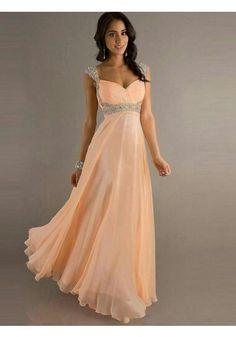 http://www.1robe.fr/robe-de-soiree-peche-en-mousseline-fc001.html Robe demoiselle d'honneur peche