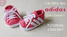 Zapatillas Adidas a crochet para bebé (Parte 2 de 2)