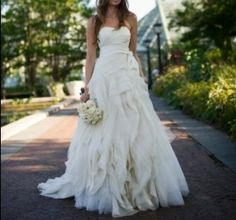 Used Wedding Dresses - Vera Wang - Size 2 - Diana Diana Wedding Dress, Wedding Dresses For Sale, One Shoulder Wedding Dress, Wedding Gowns, Wedding Bells, Plan My Wedding, Casual Wedding, Elegant Wedding, Dream Wedding