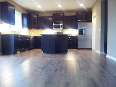 Kitchen Before Move In With Twilight Espresso Cabinets Hickory Floors Santa Cecelia