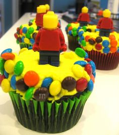 Lego mini figure cupcakes