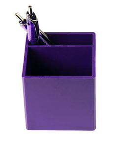 Purple Desk Organizer Cup from The Purple Store! Purple Desk, Purple Office, Purple Rooms, Purple Love, All Things Purple, Pink Purple, Red And Blue, Purple Stuff, Lilac