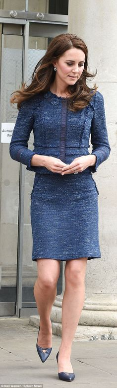 June 12, 2017 - visiting victims of London Bridge attack at Kings College Hospital in Rebecca Taylor tweed separates from 2012