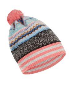 Snowflake Fairisle Beanie Hat