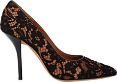 Givenchy Lace & Leather Pumps at Barneys Warehouse