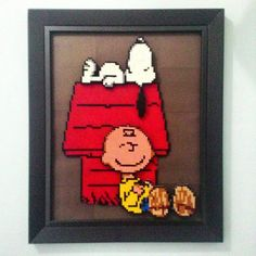 Snoopy and Charlie Brown hama beads by goodiesnies