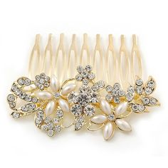 Hair & Head Jewelry Vintage Hair Comb Buffalo Antiqued Silver Plated Clear Comb Made In Usa 018 Bright Luster