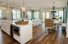Going for this open floor plan look in our future house. Only we won't have as wide a foot print to work with.