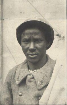 WW1 - French POW from Somali - RPPC