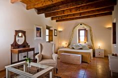 Room 8 @ Son Amoixa Vell, near Manacor (Mallorca), Spain http://charmhotelsweb.com/en/hotel/ES006