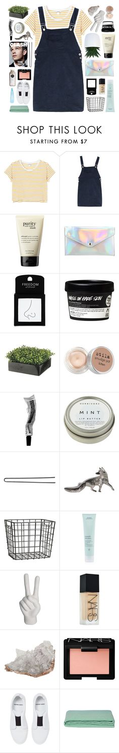"""""""i open up my palms to you"""" by deep-breaths ❤ liked on Polyvore featuring Monki, philosophy, even&odd, Topshop, Stila, CB2, Hershesons, H&M, Aveda and Noir"""