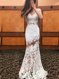 ericdress.com offers high quality Ericdress Sexy Illusion Neckline Sheath Lace Wedding Dress Wedding Dresses 2016 unit price of $ 172.89.