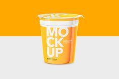 Yogurt Cup - High Angle - Mockup by Graxaim Mock-up on @creativemarket