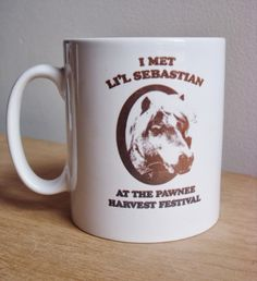 ETSY TV ROUND-UP: Parks and Recreation Edition // Lil' Sebastian Mug