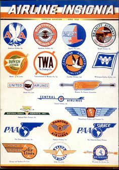 Airline Insignia - Flying Magazine, April 1936