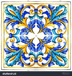 Find Italian Majolica Tiles Floral Ornament stock images in HD and millions of other royalty-free stock photos, illustrations and vectors in the Shutterstock collection. Ceramic Tile Art, Ceramic Painting, Tile Painting, Decoupage Vintage, Decoupage Paper, Italian Pattern, A Level Art Sketchbook, Folk Art Flowers, Italian Tiles