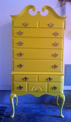 Painting an old dresser - love it!
