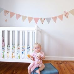 Wall decal bunting