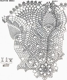 Beautiful doily crochet pattern with pineapple motif. More Patterns Like This!