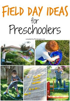 Field Day Ideas for Preschoolers. Having a field day for Preschool? Here& a list of age-appropriate fun-filled activities for a stress-less field day! Sports Day Activities, Field Day Activities, Field Day Games, Fun Outdoor Activities, Outside Activities, Summer Activities, Preschool Outdoor Games, Outdoor Games For Preschoolers, Movement Activities