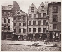 Old Building, High Street, Glasgow, 1868