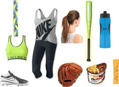 """""""Softball Practice Gear"""" by frenchfryninja ❤ liked on Polyvore"""