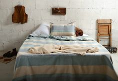 Striped Blanket and Pillow