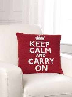 ¨keep calm and carry on¨ Coussins | Simons