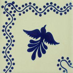 Especial Mexican Tile - Paloma Azul Corner – Mexican Tile Designs