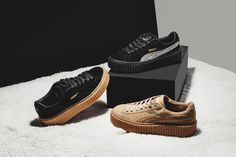 The Puma Rihanna Creeper is a popular shoe collaboration between Puma and Rihanna. Click in for release details, price information and where to buy online.