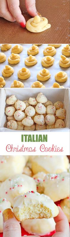 special desserts recipes, christmas desserts recipes, gluten free christmas dessert recipes - These Italian Christmas cookies have become a favorite Christmas recipe at our house. Try them and see for yourself how delicious they are! Italian Christmas Cookies, Christmas Sweets, Christmas Cooking, Holiday Cookies, Italian Cookies, Christmas Parties, Christmas Time, Cookie Desserts, Holiday Desserts