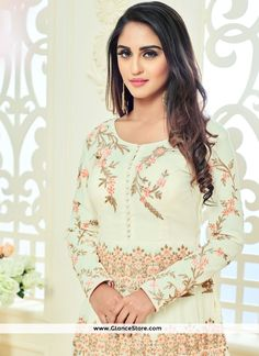 Shop for bollywood dresses finest and the latest bollywood suits online. Buy this Krystle Dsouza off white faux georgette. Bollywood Suits, Bollywood Dress, Krystal Dsouza, Floor Length Anarkali, Tv Girls, Indian Tv Actress, Indian Celebrities, Anarkali Suits, Brown Eyes