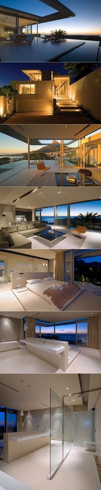 I actually really like the modern aspect of the house. Pool House in Camps Bay by SAOTA. South Africa #architecture