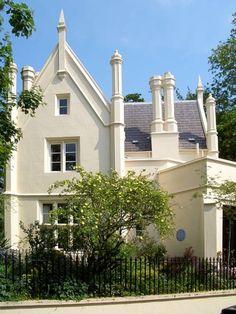 No. 17, Park Village West, Camden, London Stucco Houses, White Stucco House, Camden London, West London, London House, England, Exterior, Mansions, Park