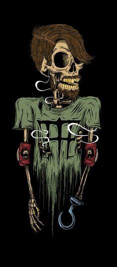 """Skull Art by Luan Brombim For The """"Black Skull Series"""" @ Behance, For The """"Till The End Skateboards, Owned by Sandro Dias & Fabio Sleiman ☠️ Skull Wallpaper, Black Skulls, Skull Tattoos, Laura Lee, Skull And Bones, Skull Art, Dark Art, Crane, Psychedelic"""