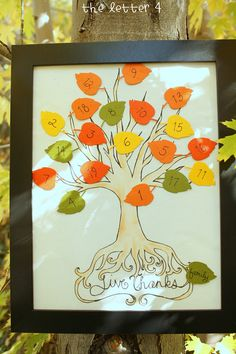 Make a Thanksgiving Countdown Tree
