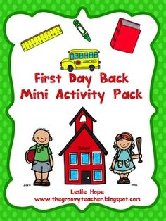 This is a mini pack of activities you can use on the first day or week of school to give you a chance to break the ice with your new kiddies and le...