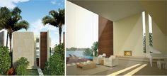 Progetto di 18 ville di lusso a Sentosa Cove, Singapore. Ogni villa di 700 mq è dotata di una piscina privata e la zona living si sviluppa su doppia altezza.   Progettista: Claudio Silvestrin Architects