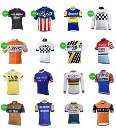 """Relive the highlights of cycling in the with this elegant Peugeot retro cycling jersey. It will be perfect for vintage """"riding"""" or during large retro gatherings such as Eroica! Peugeot, Cycling Gear, Cycling Jerseys, Anjou Velo Vintage, Paris Roubaix, Sports Logo, Race Cars, Soccer, Bicycle"""