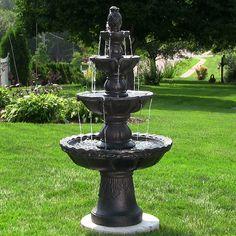 sunnydaze 4tier pineapple fountain 52 inch tall
