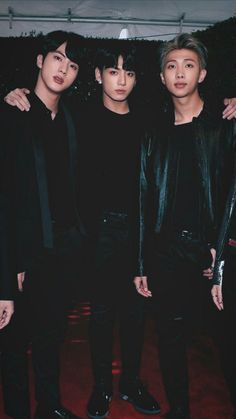 Jin, Jungkook & RM  #BTSXAMAs ||  2017 American Music Awards