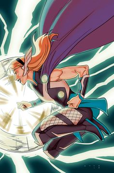 Thors #1 variant cover - Gwen of Thunder by Kris Anka *